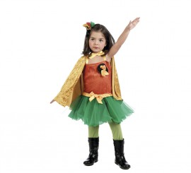 Disfraz Robin Girl para Niña en varias Tallas