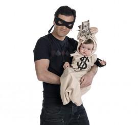Nana Deluxe Bebé Dolar de bebé + antifaz de ladrón de adulto