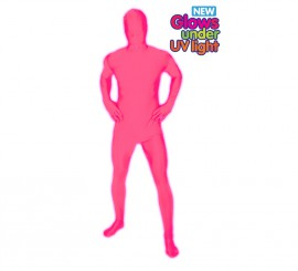 Disfraz MORPHSUIT color rosa fluorescente talla XL adultos