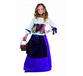Disfraz de Tabernera Medieval Deluxe para niña