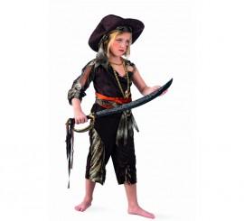 Disfraz de Pirata Aventurera Deluxe para niña