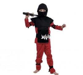 Disfraz de Ninja Rojo para Niño en Varias tallas