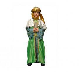 Disfraz de Rey Mago Verde para niños en varias tallas