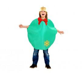 Disfraz de Bola de Navidad verde para niños 7 a 9 años