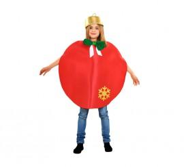 Disfraz de Bola de Navidad roja para niños 3 a 4 años