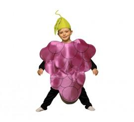 Disfraz de Racimo de Uva para niños de 5 a 6 años