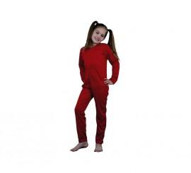 Mono rojo completo de punto rojo 7-9 años niños