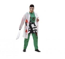 Disfraz de Cirujano Zombie sangriento para hombre talla M-L