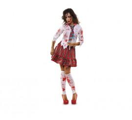 Disfraz de Colegiala Zombie para mujer talla M-L