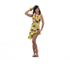 Disfraz de Hawaiana o Turista para mujer talla M-L