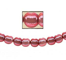 Guirnalda de boca de vampiro de 27x200 cm
