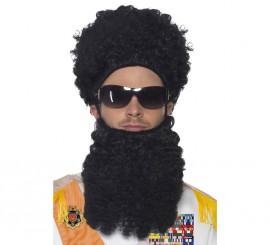 Kit de El Dictador: Peluca, barba y gafas