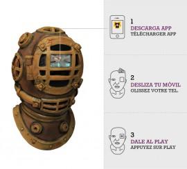 Máscara con animación Escafandra de Buzo