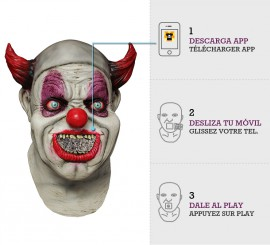 Máscara con animación Payaso Maggot