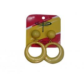 Pendientes de flamenca pequeños en color amarillo