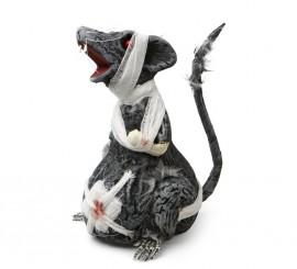 Rata Zombie herida con vendas de 17x22 cm para Halloween