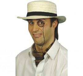 Sombrero gondolero o canotier de paja